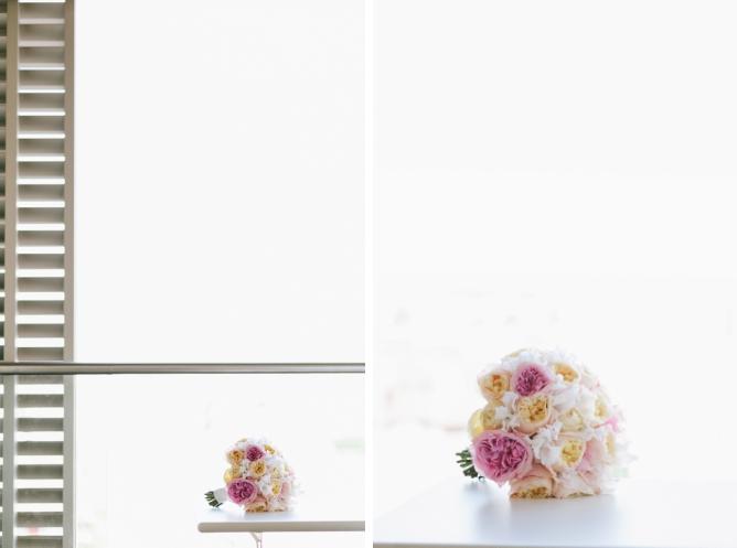 Wedding bouquet details on Porchester Hall wedding