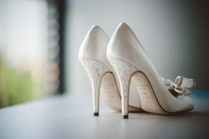 Freya Rose wedding shoes on white background