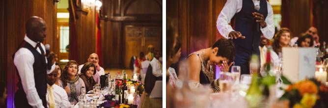 Grooms speech at Porchester Hall wedding