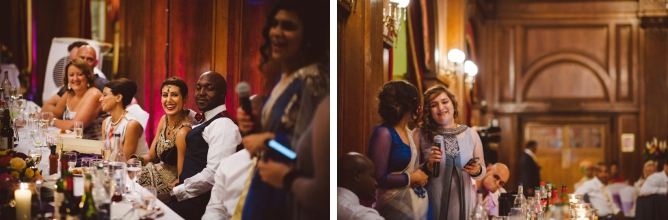 Speeches at Porchester Hall wedding