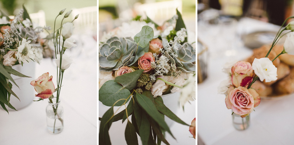Colour photography of wedding flowers