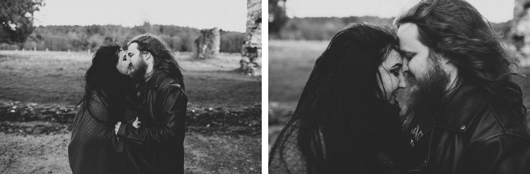 black & white couple photograph