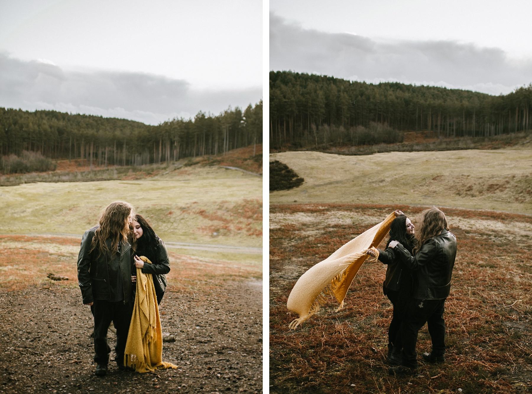 colour photo of styllish bride