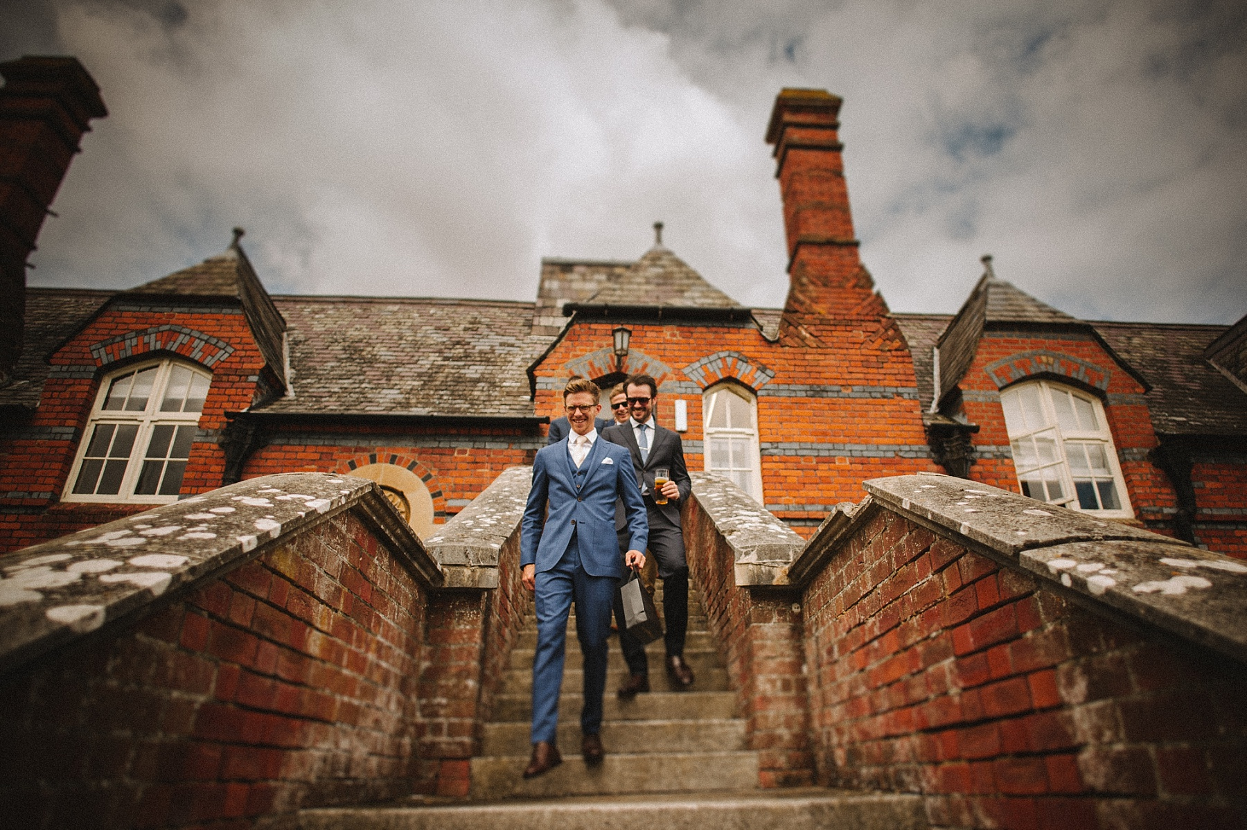 photograph of groomsmen at The Elvetham wedding