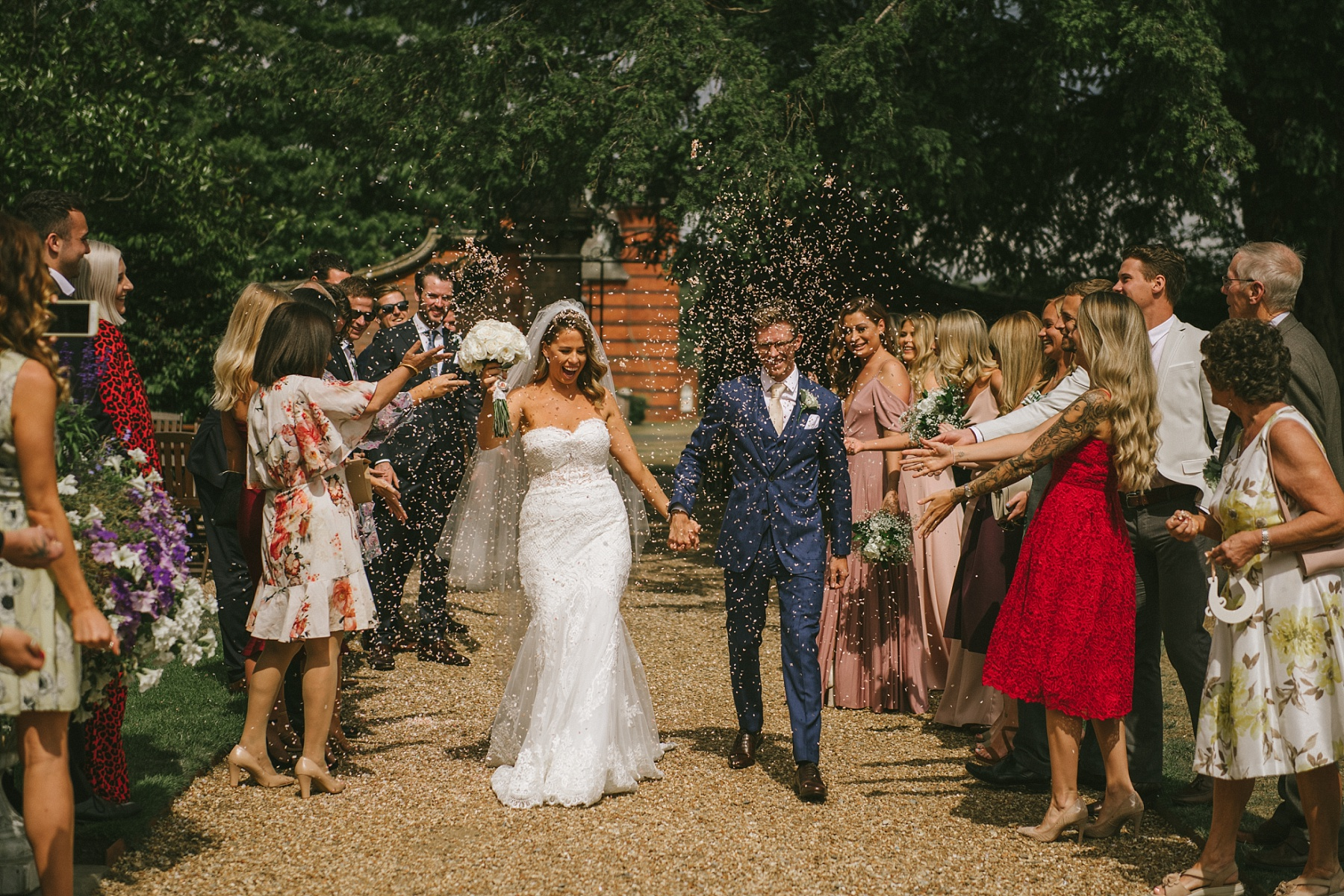 Confetti photo at The Elvetham