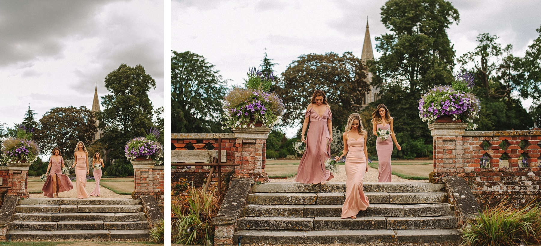 colour pictures of bridesmaids at wedding
