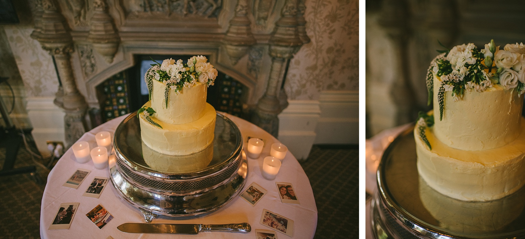 colour photo of wedding cake at The Elvetham Hotel