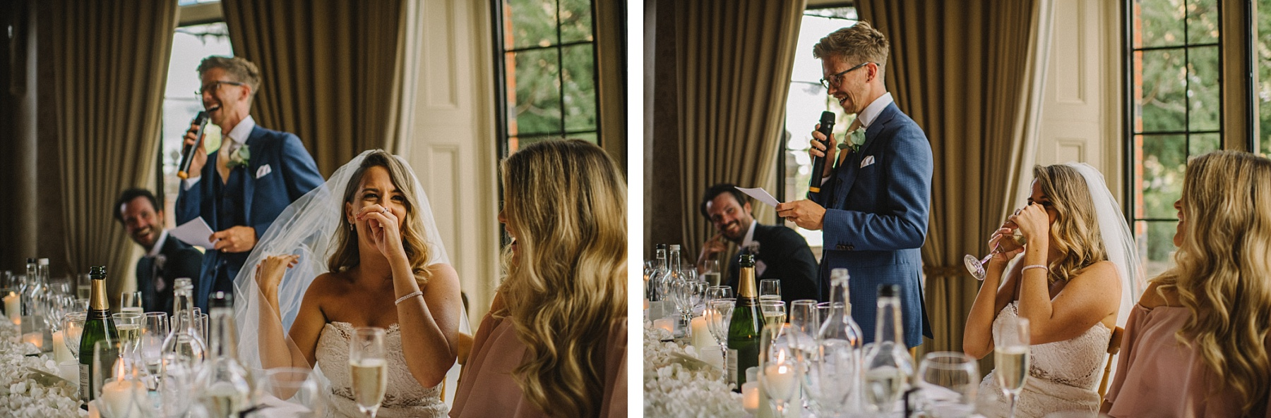 the wedding speeches at stylish wedding venue