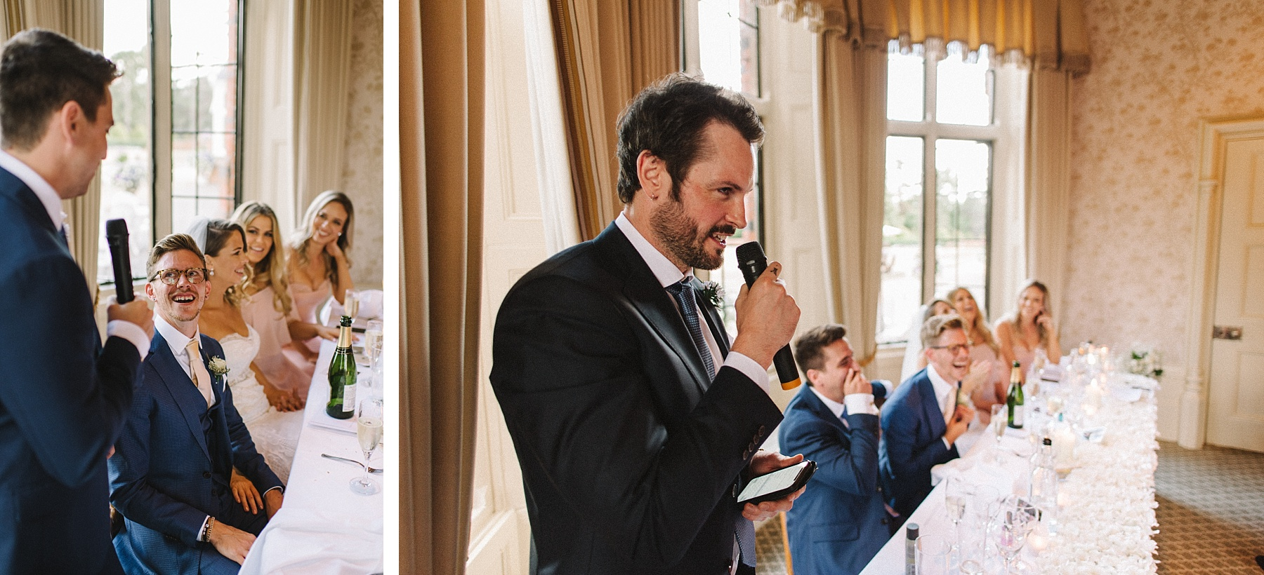 Best man giving funny speech at The Elvetham wedding
