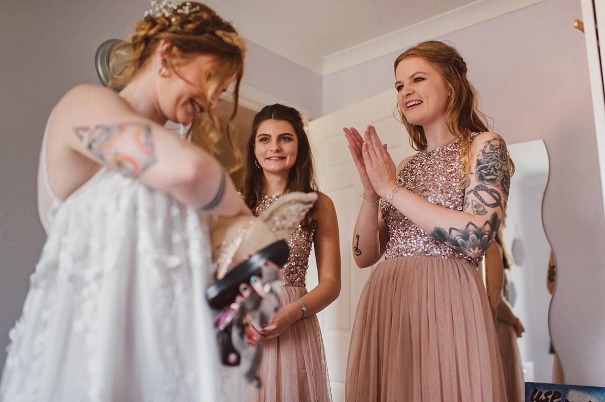 bride getting ready in Wokingham