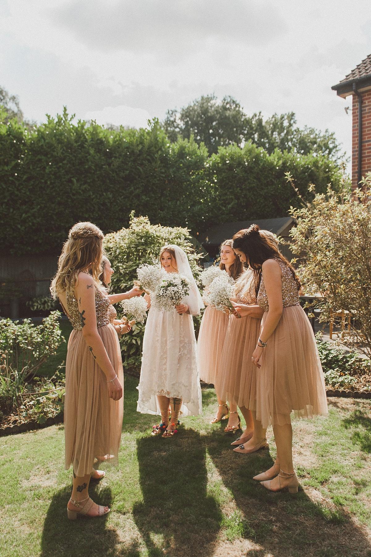 bridal squad at wokingham wedding