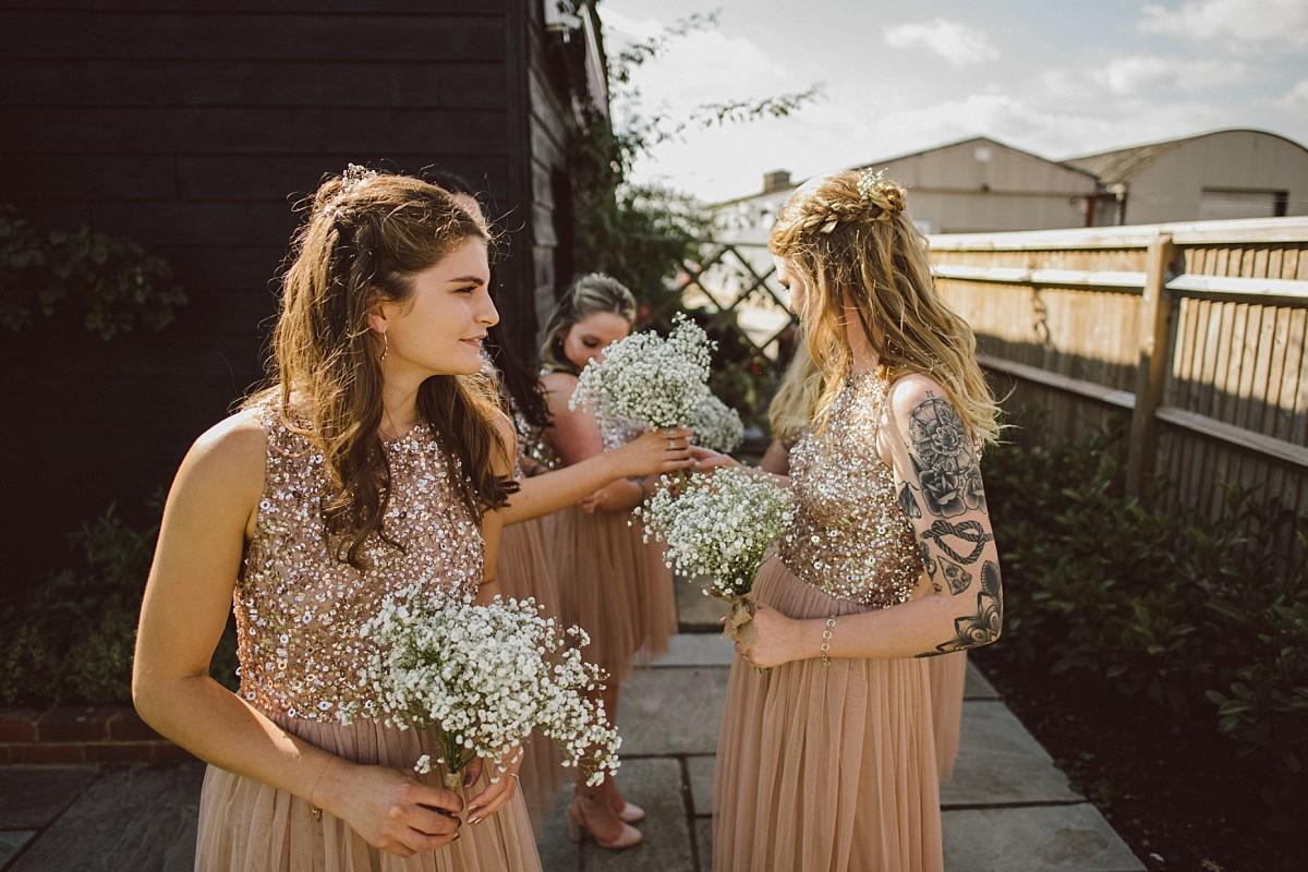 wedding ceremony at Berkshire wedding venue