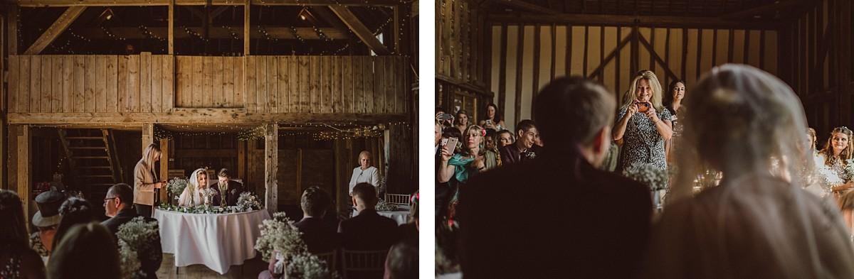 wedding cake at stokes farm barn