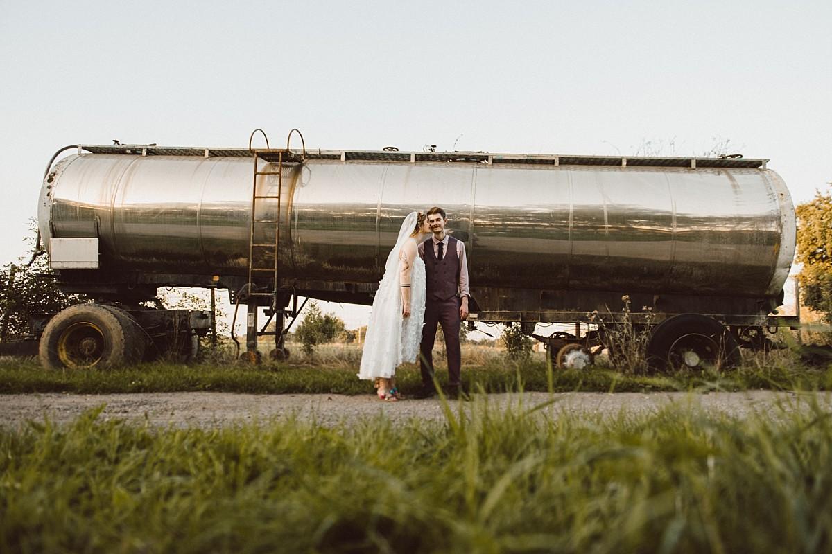 modern wedding photograph