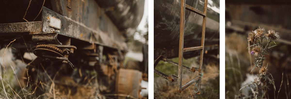 rusting metal at barn wedding venue