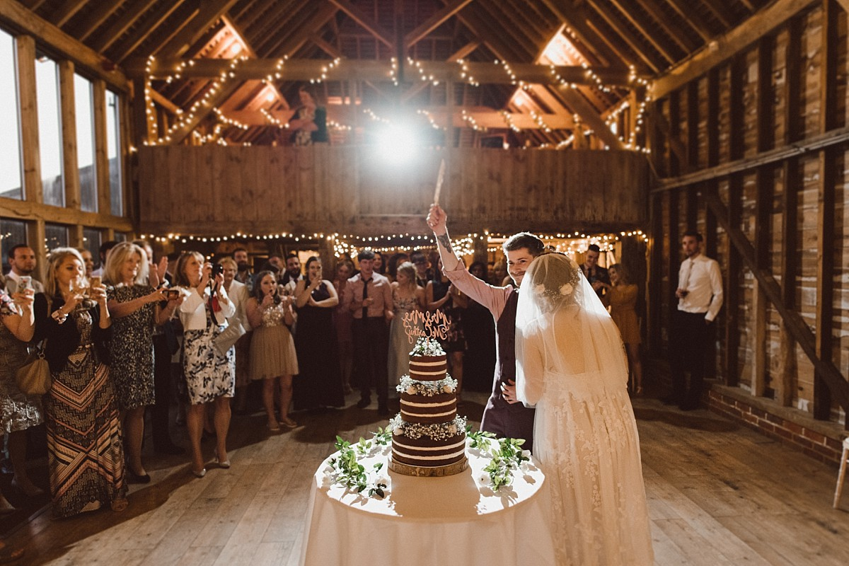 the first dance at Stokes Farm Barn