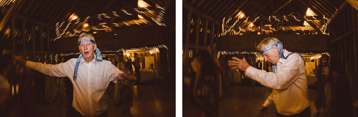 dad dancing at wedding