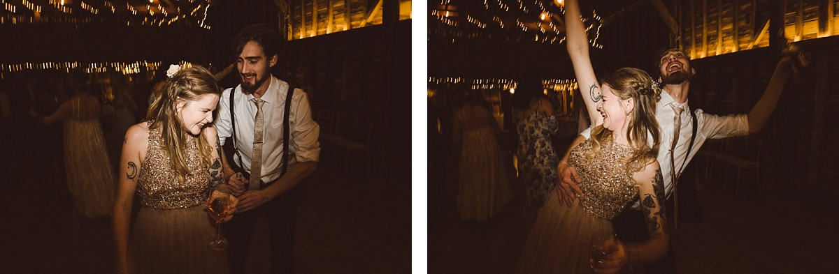man and women dancing at wedding
