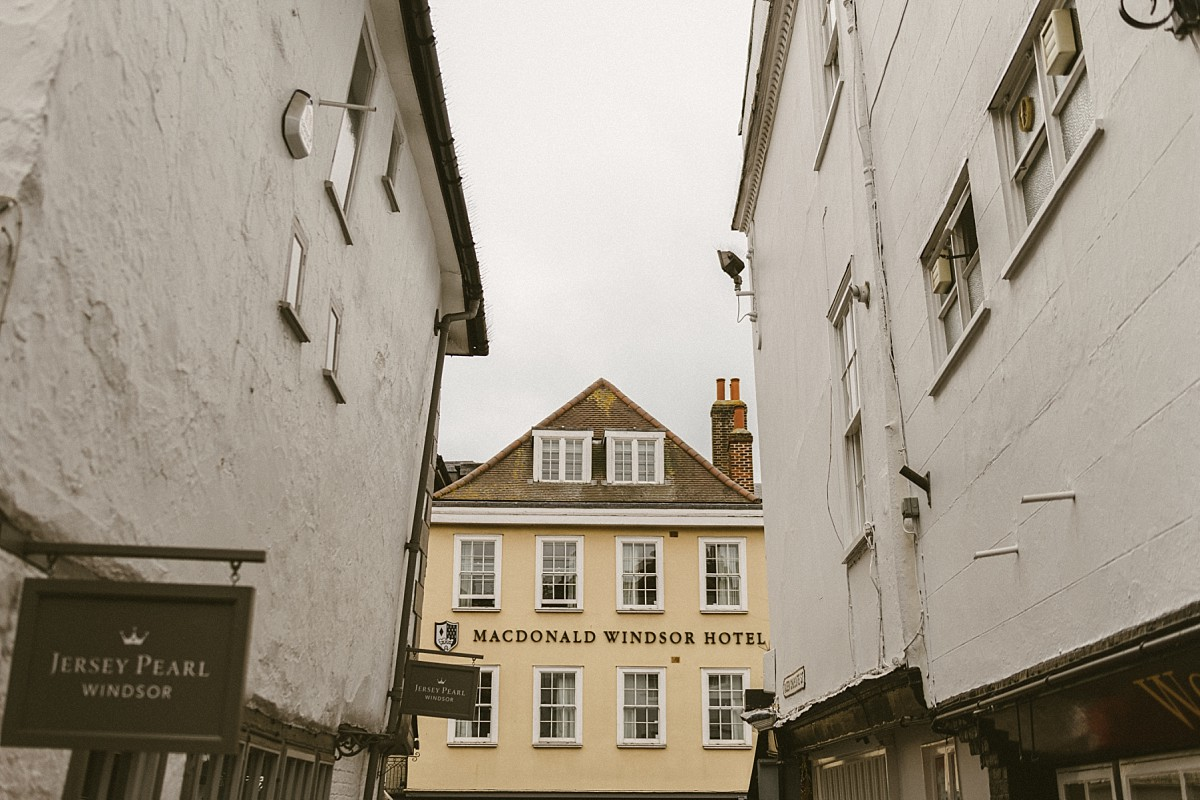 colour photograph taken of the Castle Hotel in Windsor