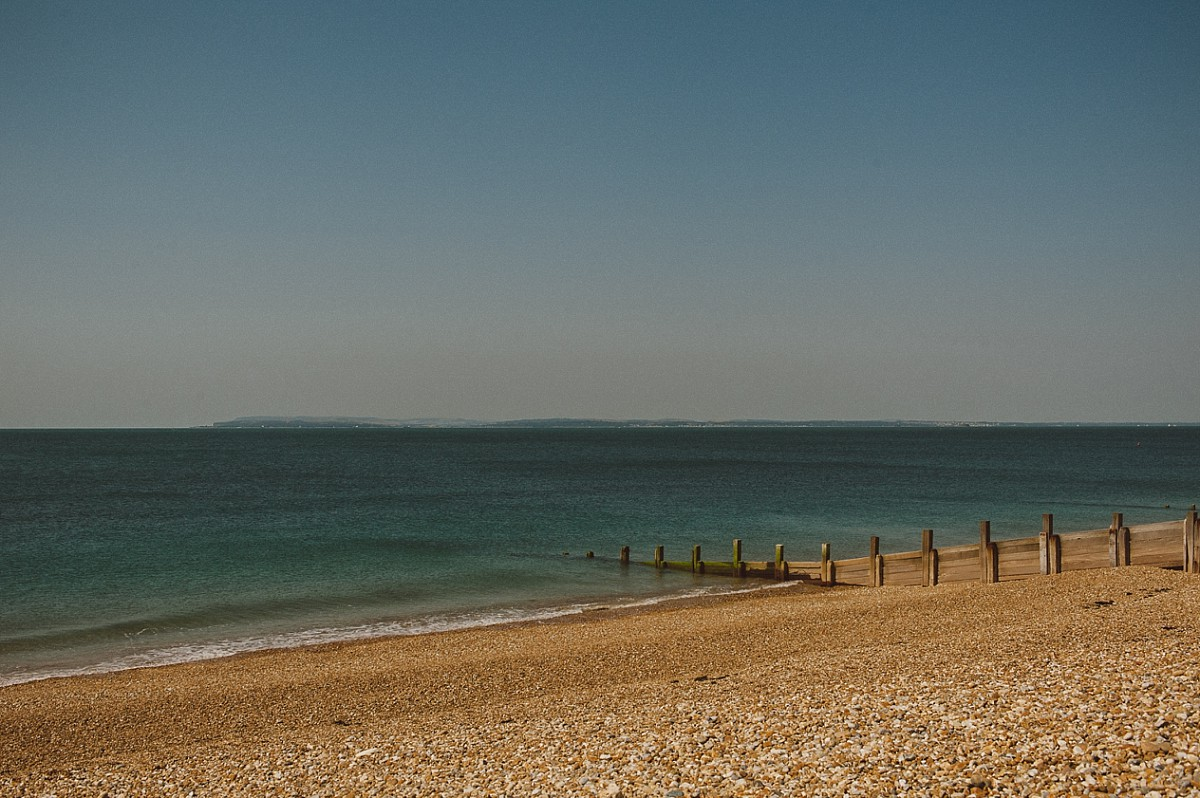 landscape photo of Hayling Island beach