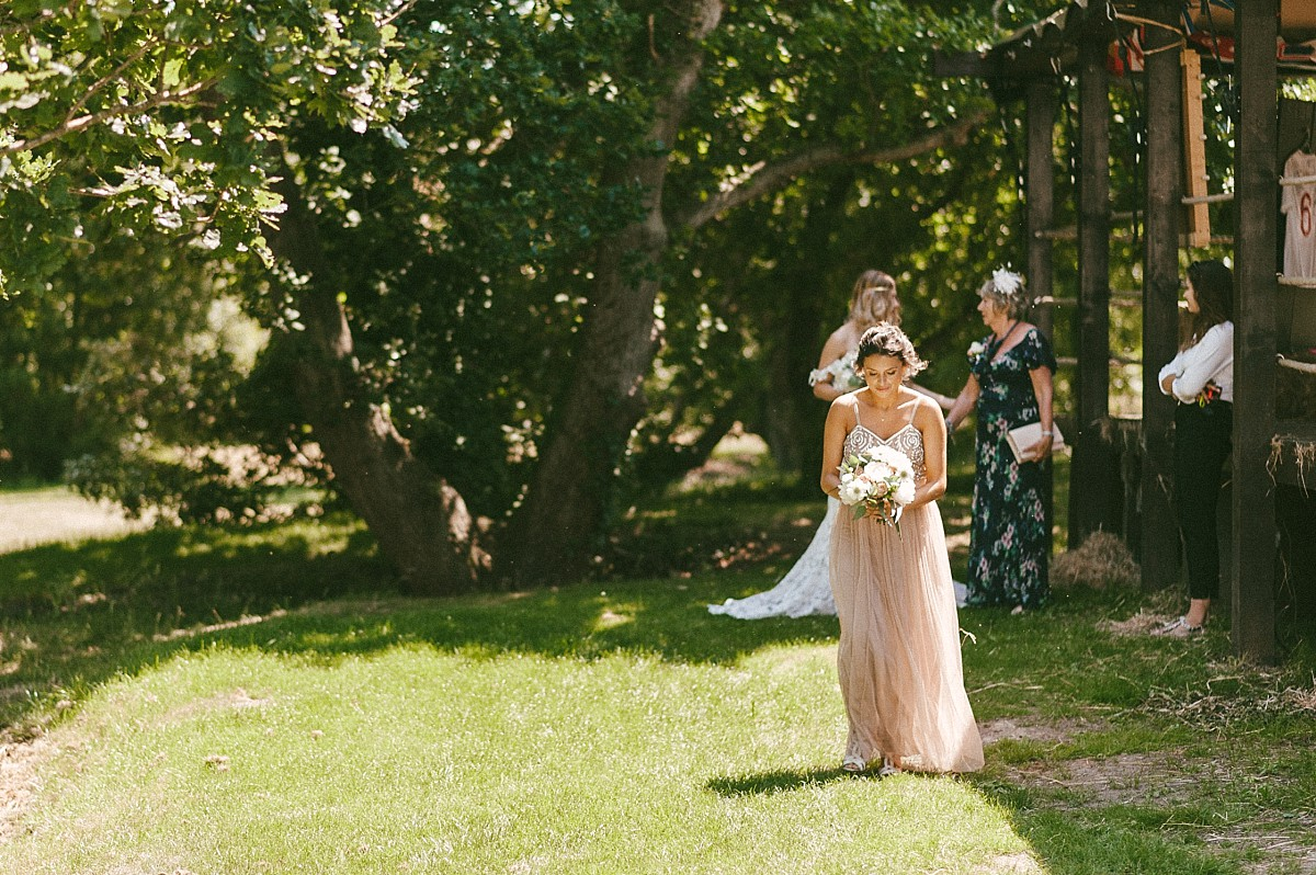 bridesmaid at Hayling island wedding venue