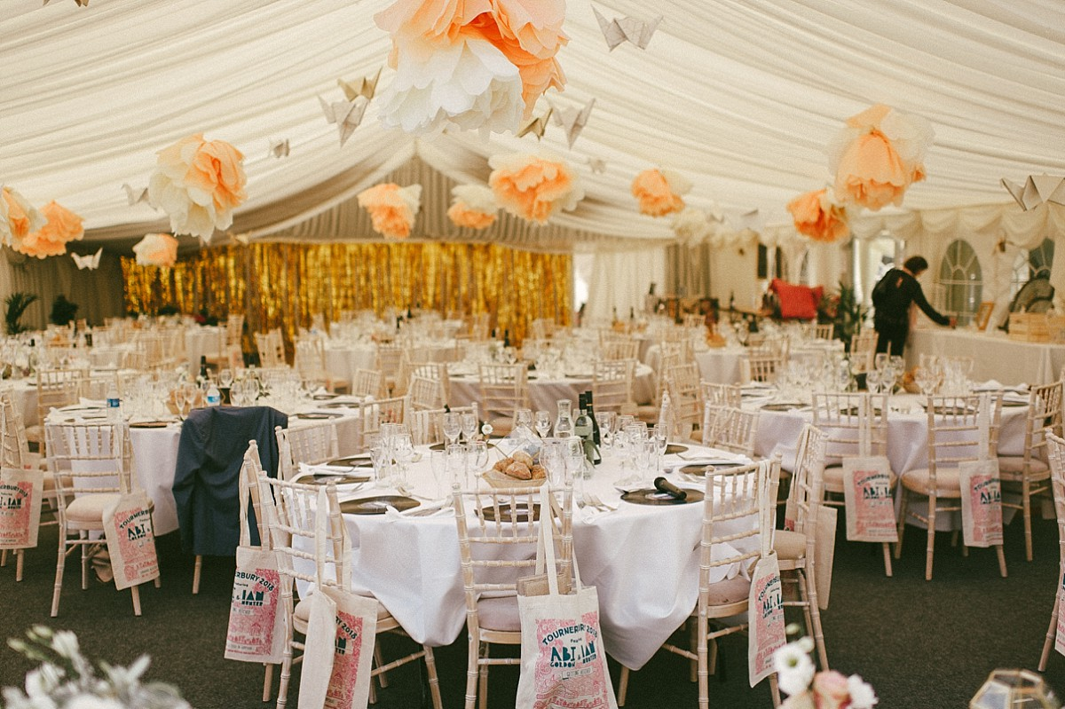 marquee weddnig at Tourerbury Woods estate