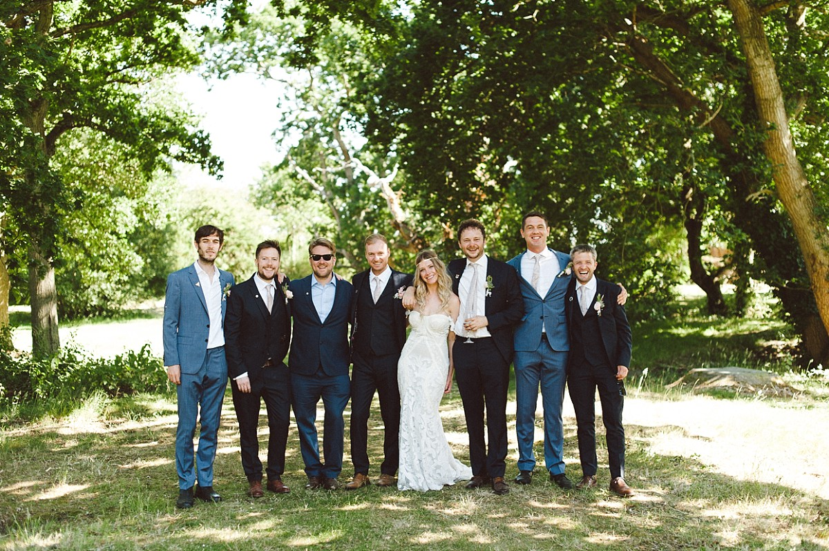 photo of Bohemian wedding in Hampshire