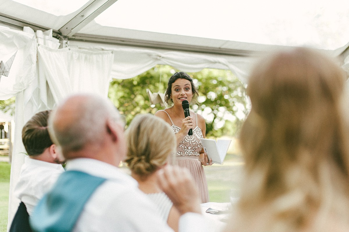 photograph of wedding speech