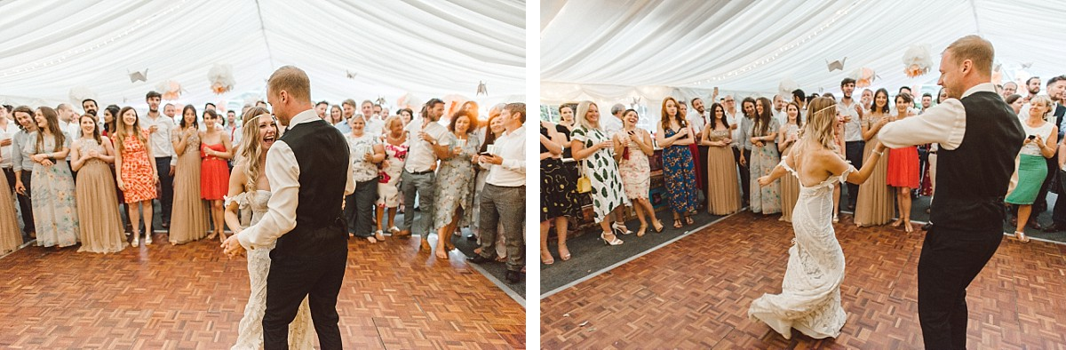first dance at Tournerbury estate wedding