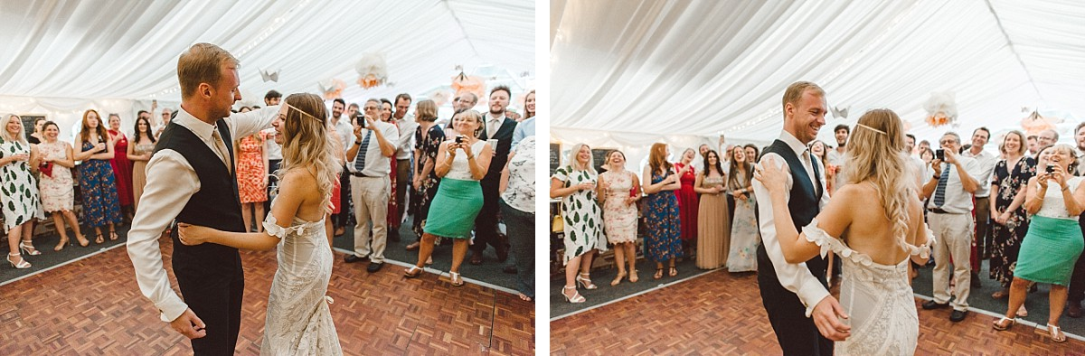 first dance at Hayling Island wedding venue