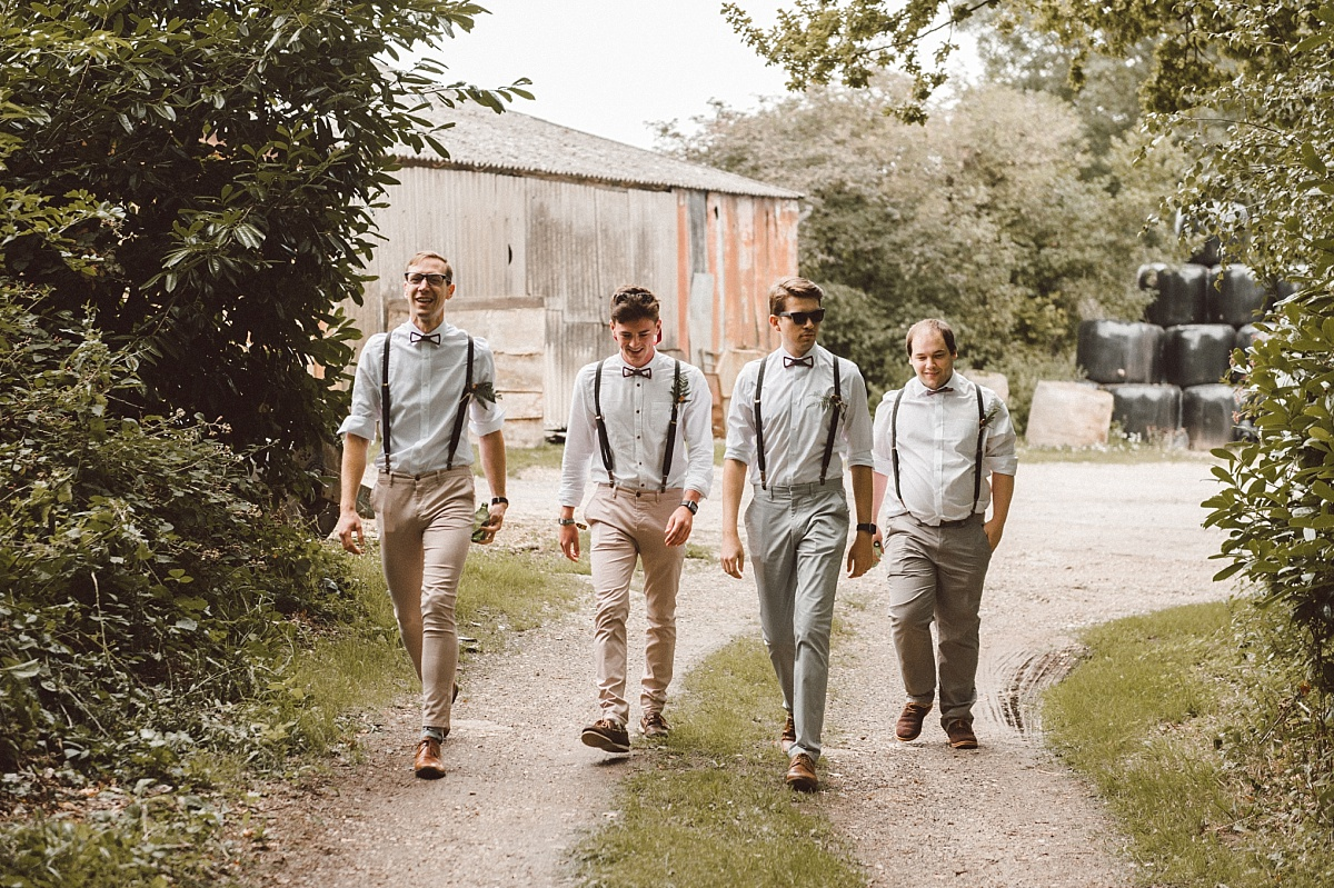 Cool Groomsmen in morning of alternative wedding day