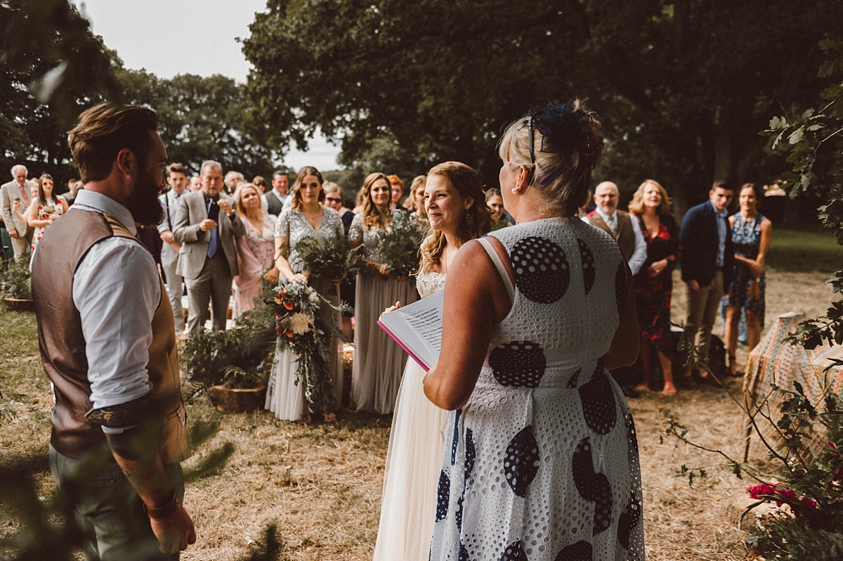 wedding ceremony during Summer outdoor wedding