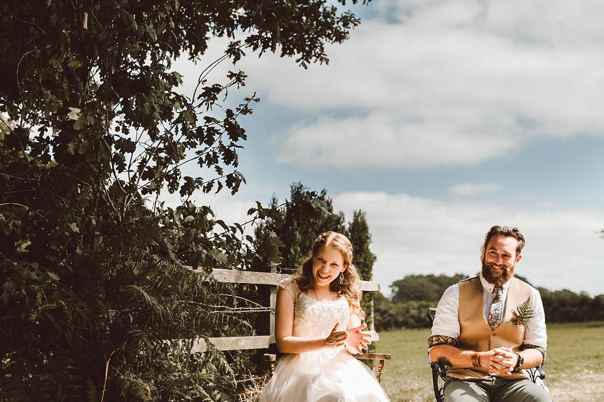 bride & groom laughing funny wedding speech