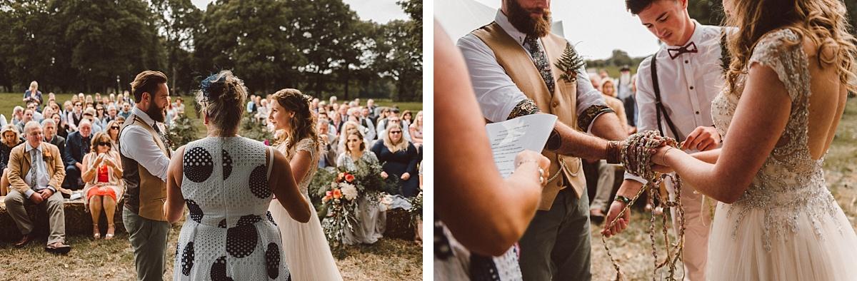 photo of alternative outdoor wedding ceremony