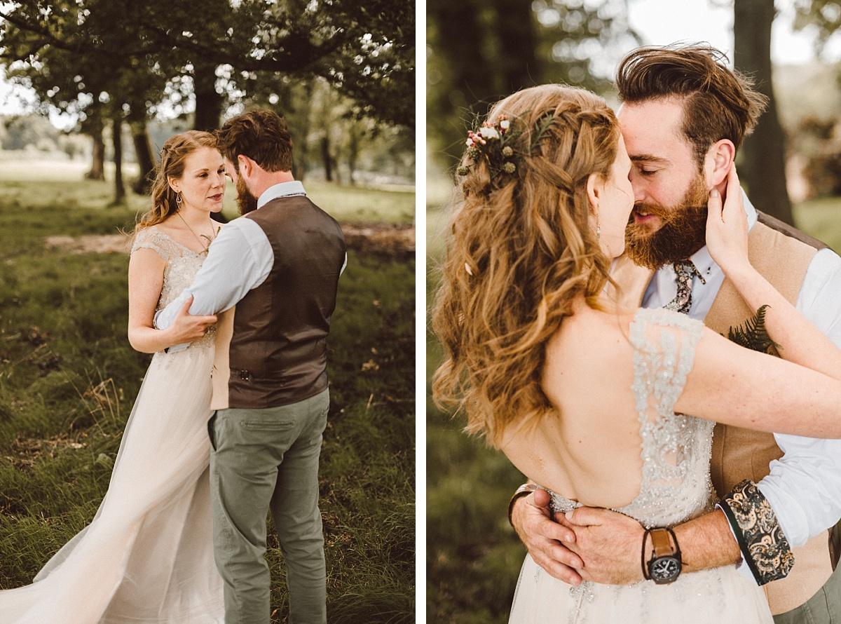 Very cool couple on alternative wedding