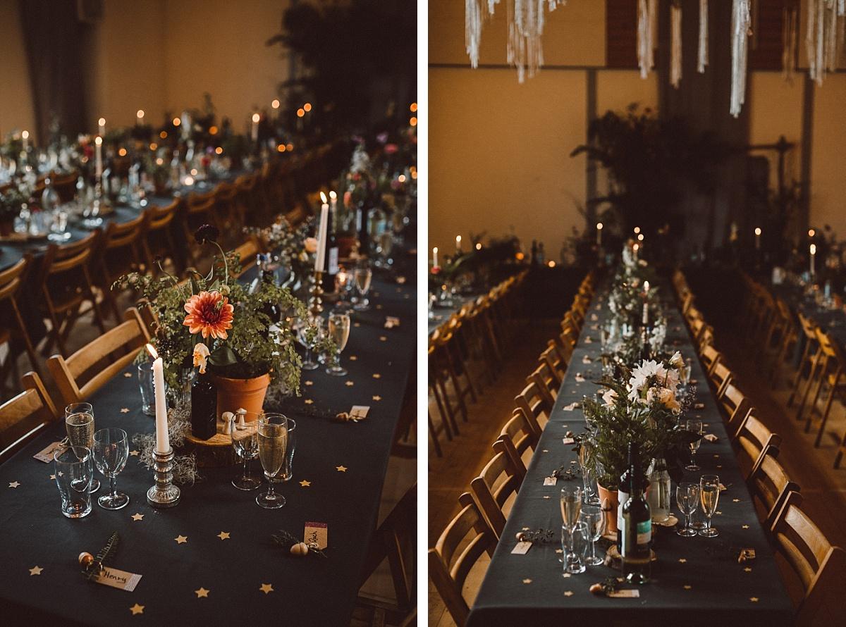 Amazing village hall wedding style