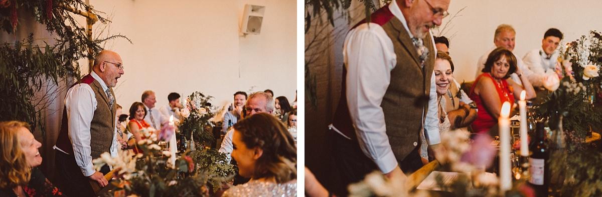 Father giving wedding speech
