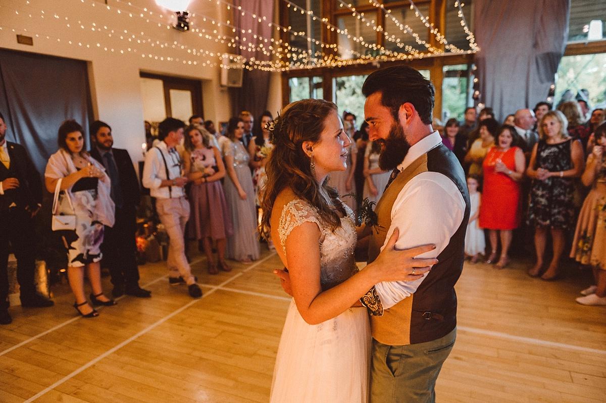 First dance at Village hall wedding