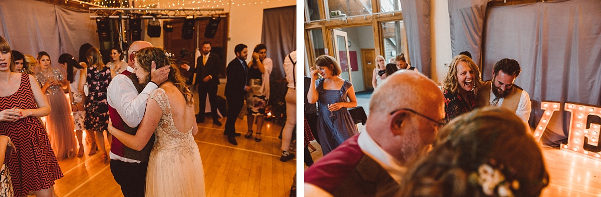 The first dance at alternative wedding