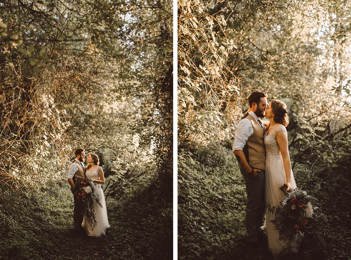 BoHo bride with stylish Groom
