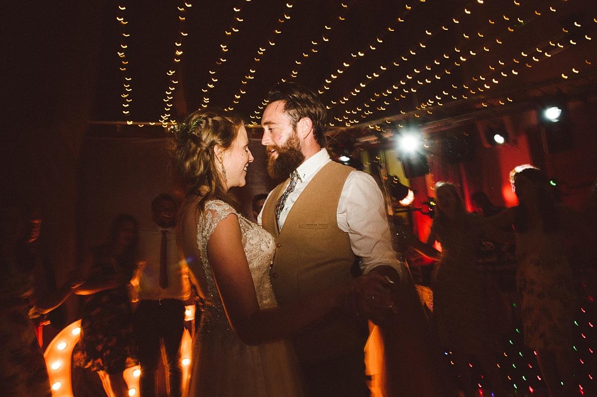 Newly married Bride & Groom at alternative wedding