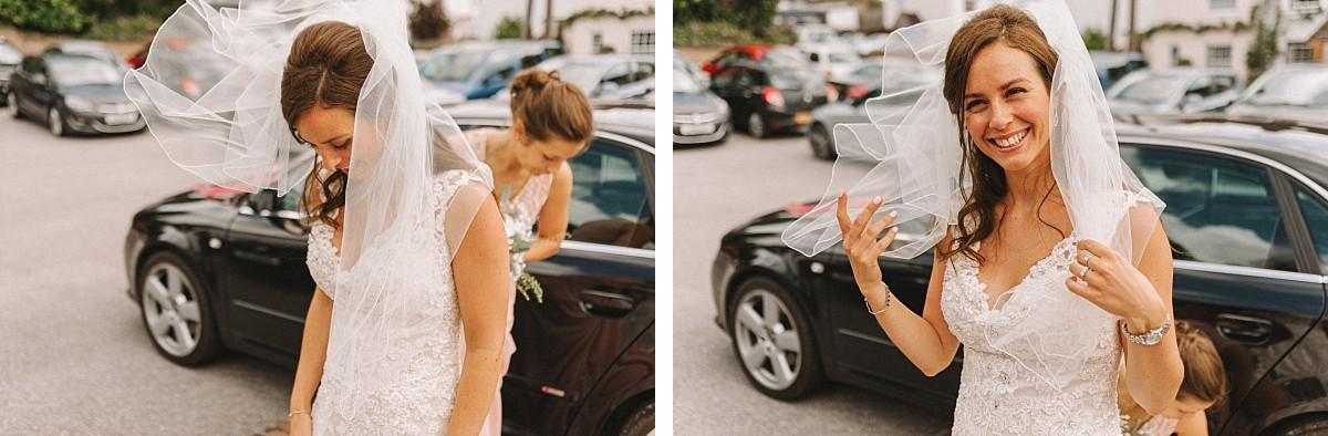 bride on bluebell vineyard wedding day