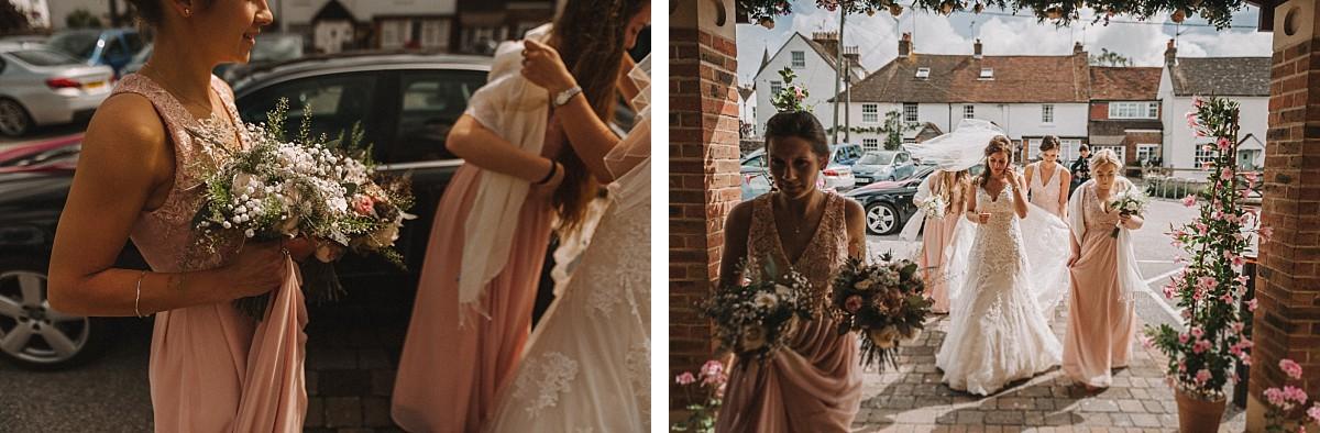 bride walking into wedding ceremony