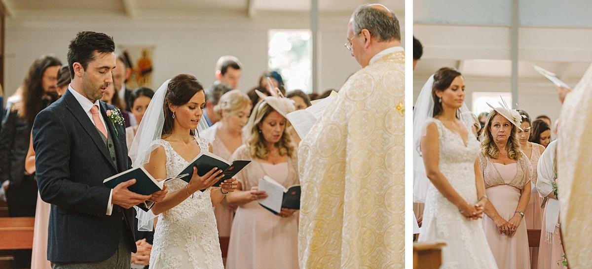 ceremony before bluebell vineyard wedding