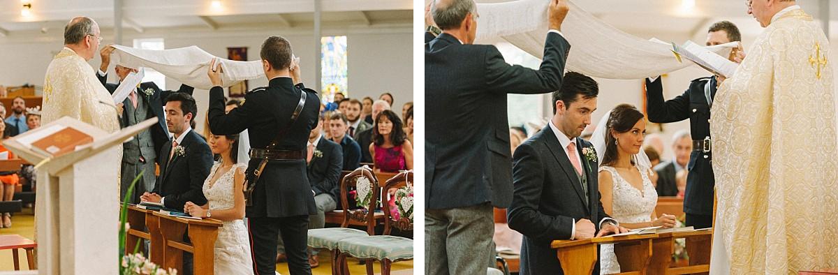 stylish couple during wedding ceremony