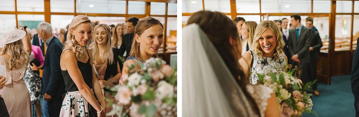 happy people on wedding day