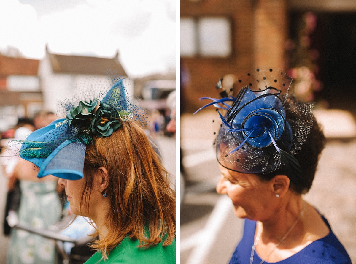 colour photo of wedding hats
