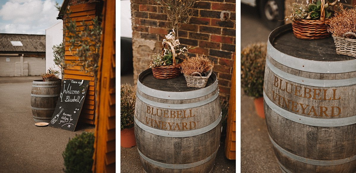 bluebell vineyard wedding decorations