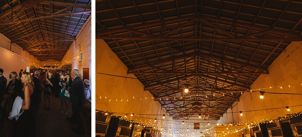 photo of the barn at bluebell vineyard wedding