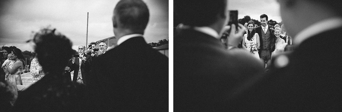 black & white photo of wedding reception